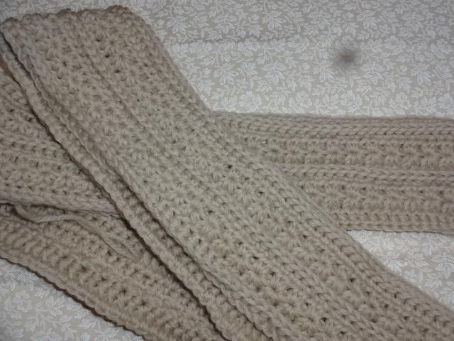 かぎ針編みのマフラー 制作途中