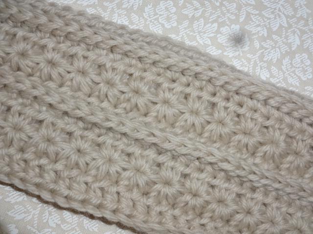かぎ針編みのマフラー 編み地