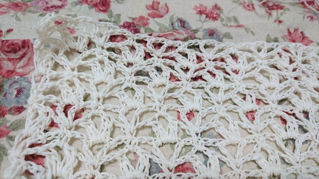 かぎ針編みストール 模様