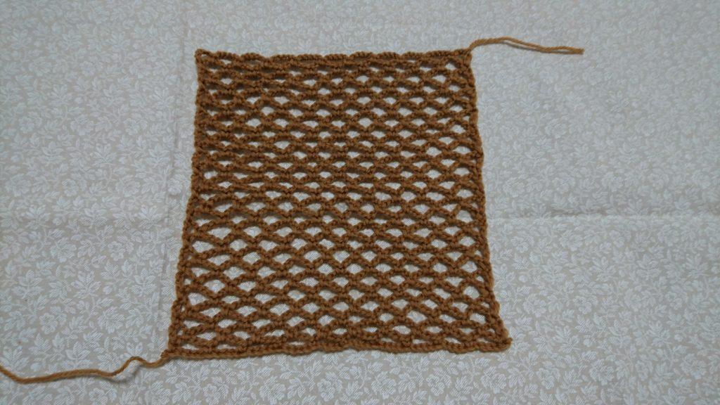 ネット編みの模様