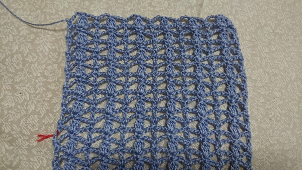 玉編み模様編み地