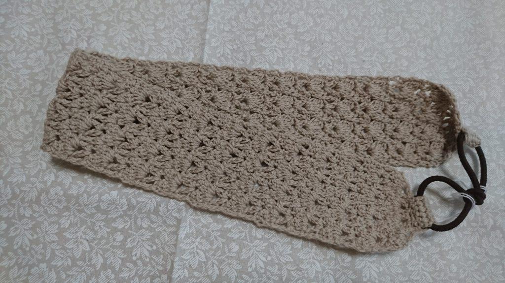 玉編みの模様 ヘアバンド